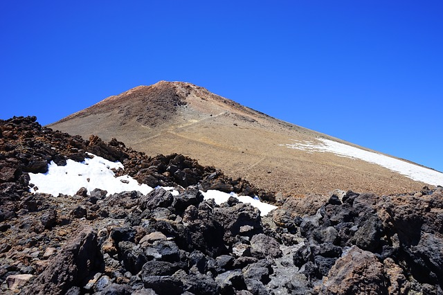 Free teide volcano mountain summit lava lava flow