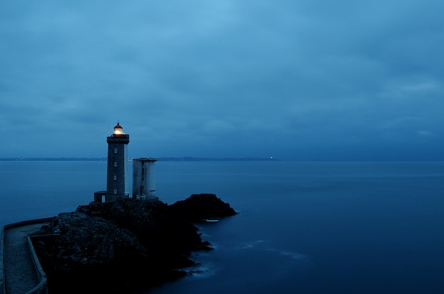 Free lighthouse phare du petit minou bay of brest sea