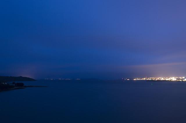 Free brest bay of brest night light sky brittany sea