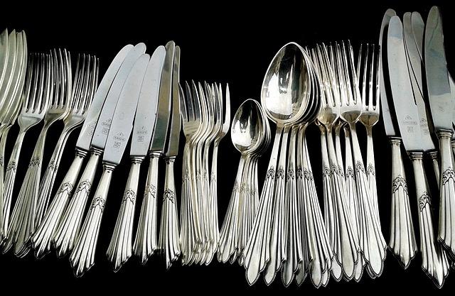 Free               cutlery panel cutlery knife forks spoon silverware