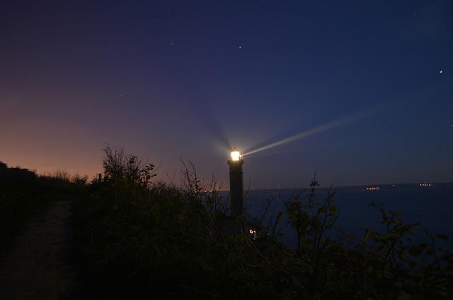 Free lighthouse marine maritime sea light night