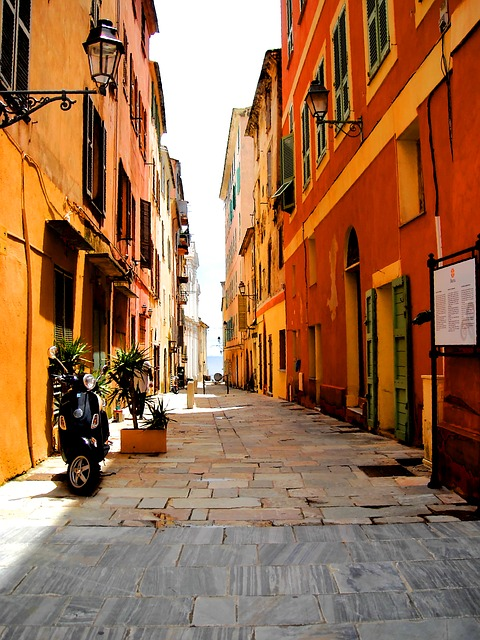 Free street sun lane colors summer heat corsican