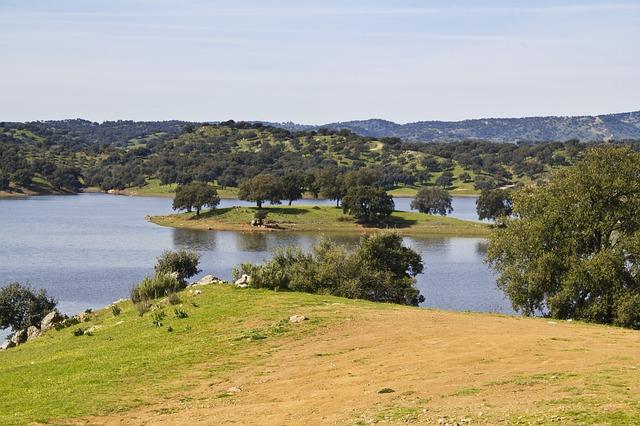 Free landscape seville sierra marsh reservoir sky lake