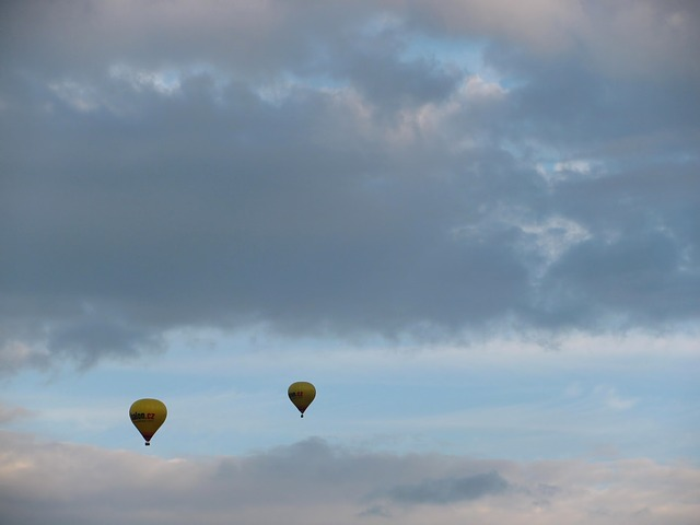 Free hot air balloon ride balloon sky clouds skyscape