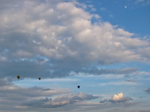 Free hot air balloon ride balloon sky clouds moon