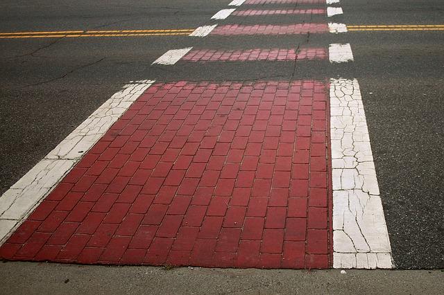 Free crosswalk path road street city urban asphalt