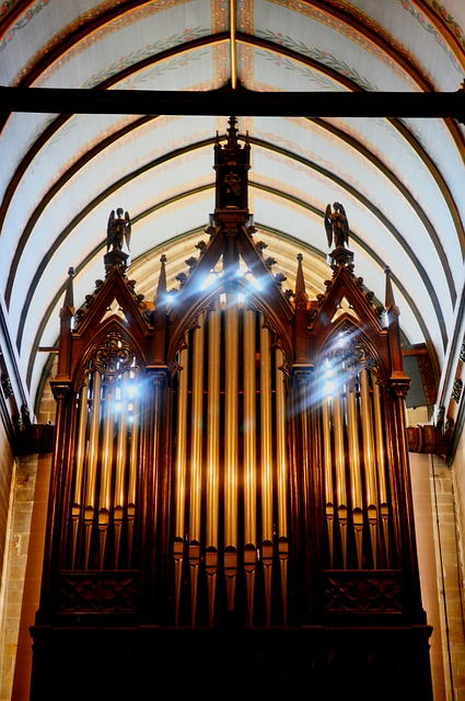 Free church organ light vitreous brittany