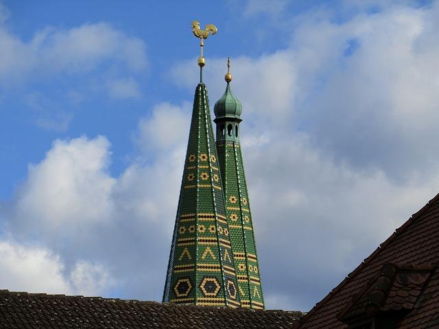 Free steeple towers sky spires church