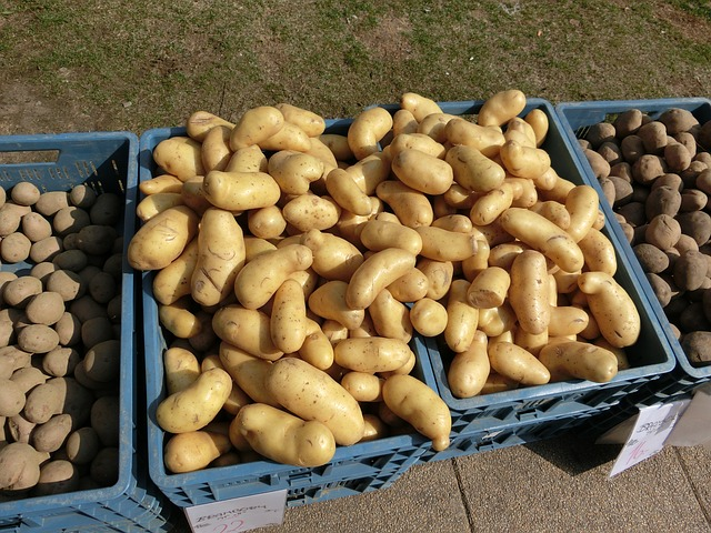 Free potatoes market vegetables food boxes