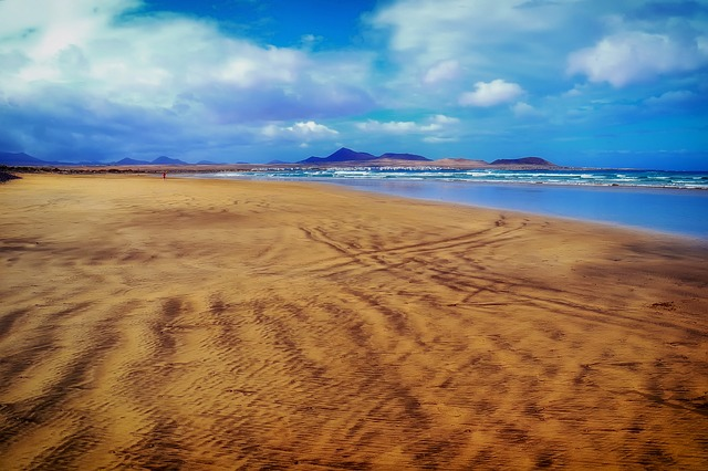 Free canary islands sea ocean beach sand vista