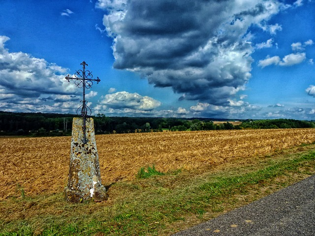 Free ardennes france cross sky clouds landscape scenic