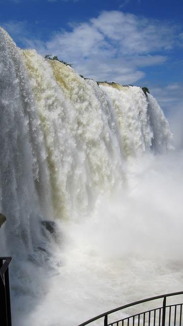 Free iguazu waterfall water wall water river roar