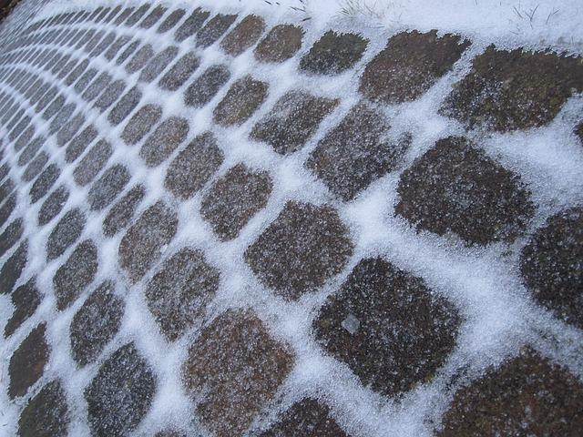 Free paving stones away granite stone winter cold icy