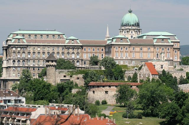 Free royal palace building hungary budapest