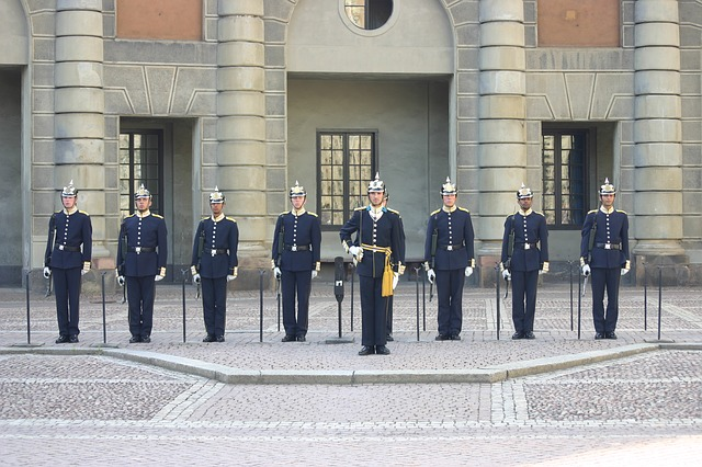 Free changing of the guard guard sweden stockholm palace