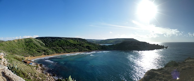 Free malta bay sun sand cove sea