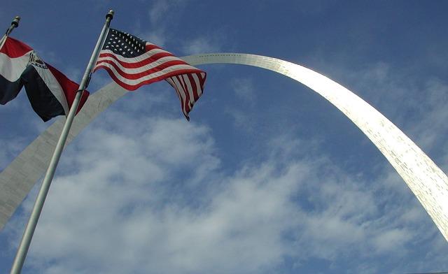 Free gateway arch american flag jefferson national