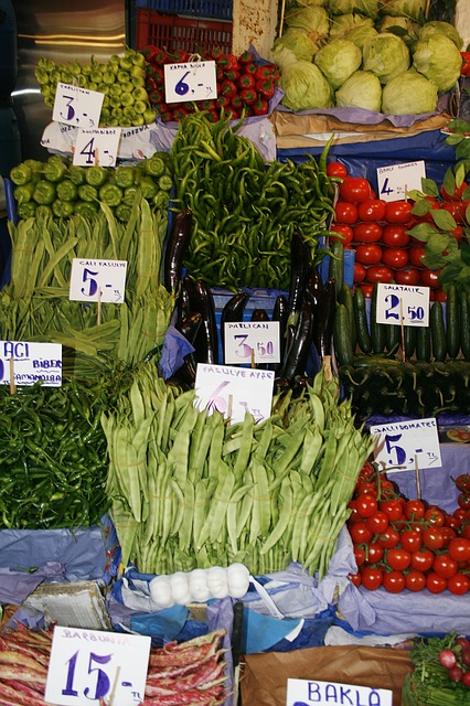 Free vegetables market exotic istanbul spread