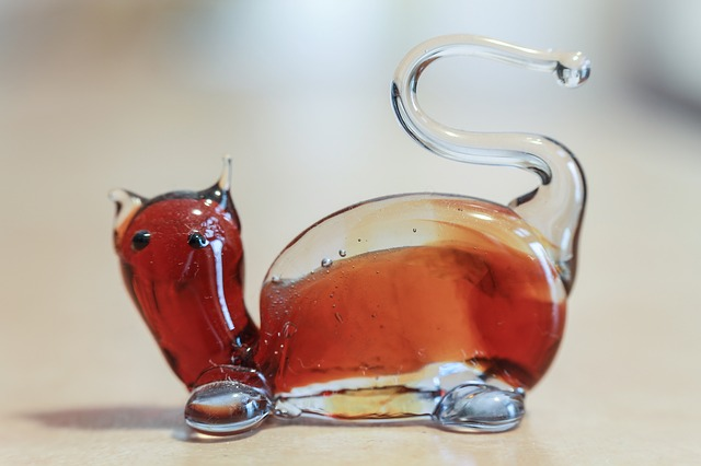 Free glass cat glass sculpture murano murano glass