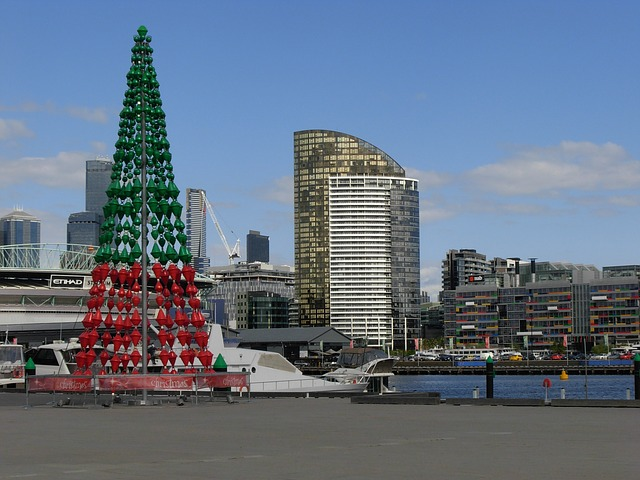 Free melbourne christmas city town xmas building