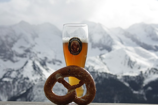 Free beer pretzel mountains