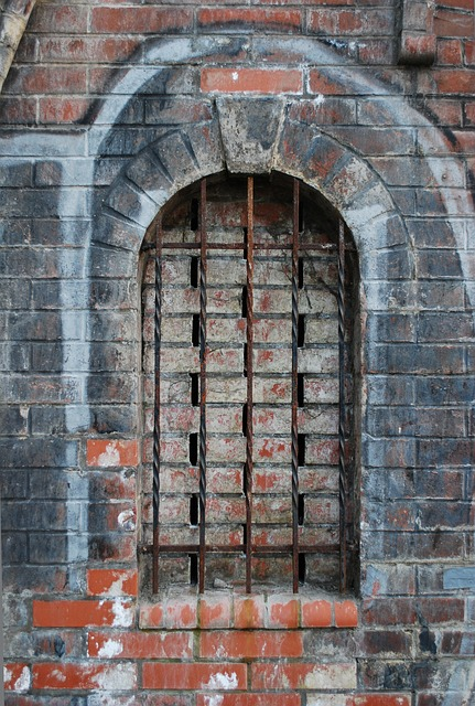 Free window grille bricks wall the architecture of the