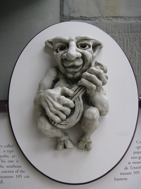 Free art figure music old funny bas-relief portrait