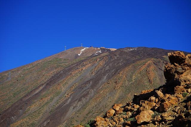Free mountain volcano teide lava lava fields lava flow