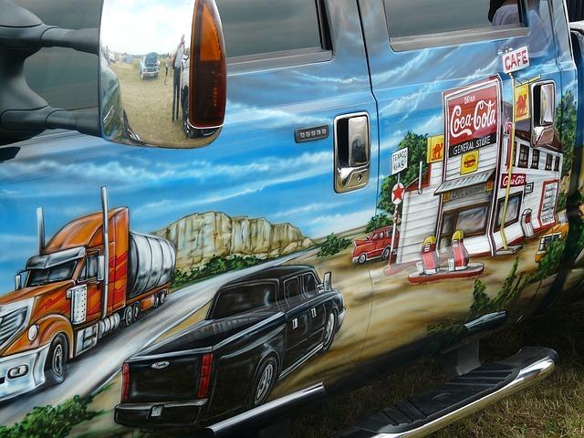 Free auto paintwork design-painting image