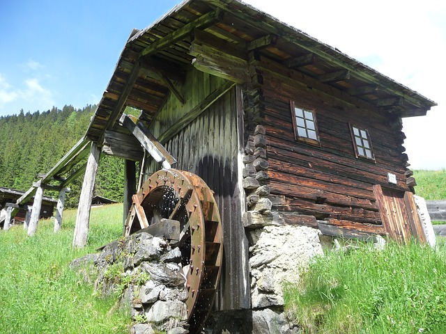 Free waterwheel water mill wood old nature past
