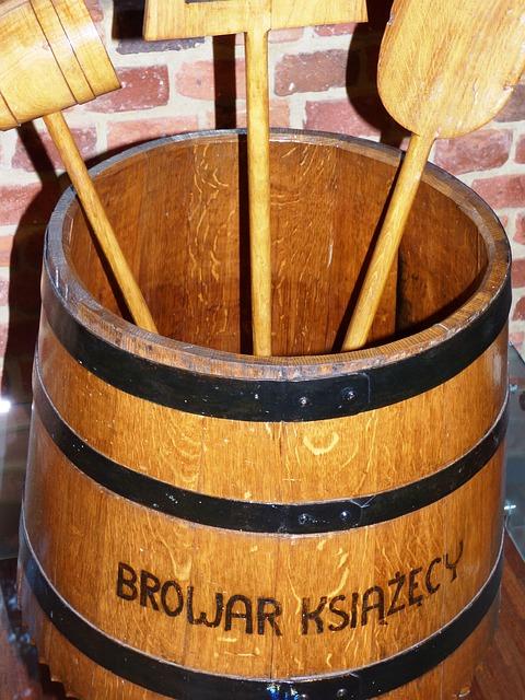 Free beer brewery tools barrel wood tree very old