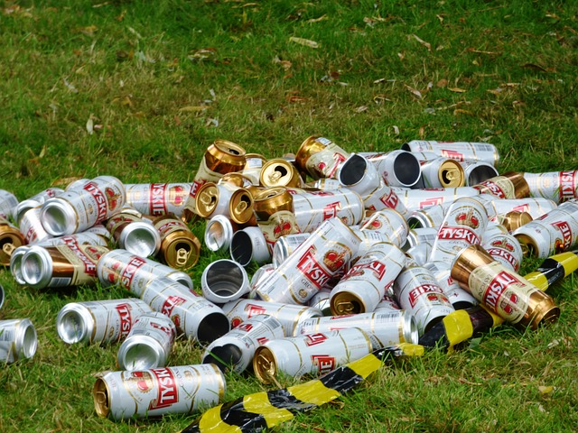Free cans garbage rubbish litter the purity of the