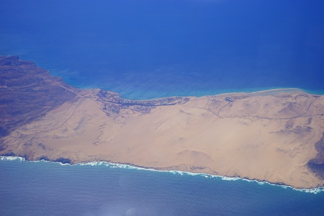Free fly outlook deep view sea island fuerteventura