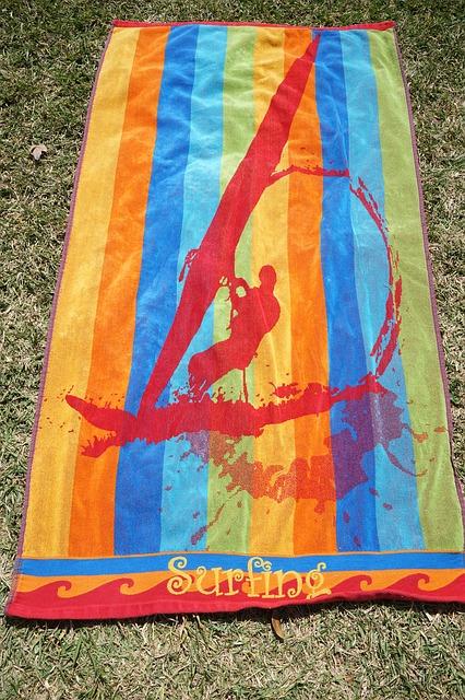 Free towel bath towel colorful color surfer