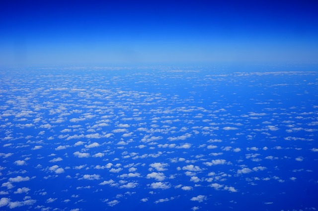 Free clouds sky fly above the clouds blue