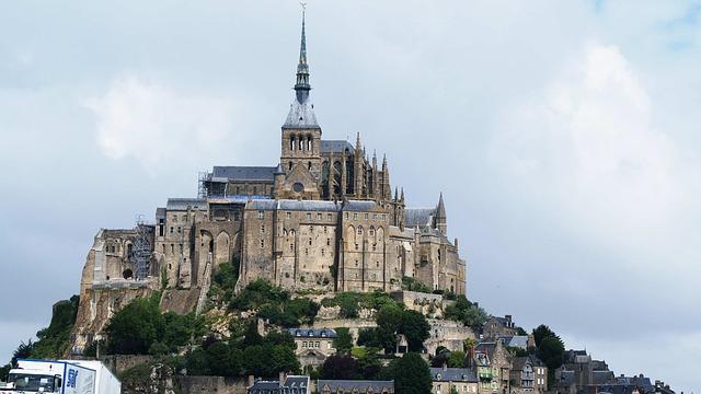 Free france mont saint michel island monastery gothic