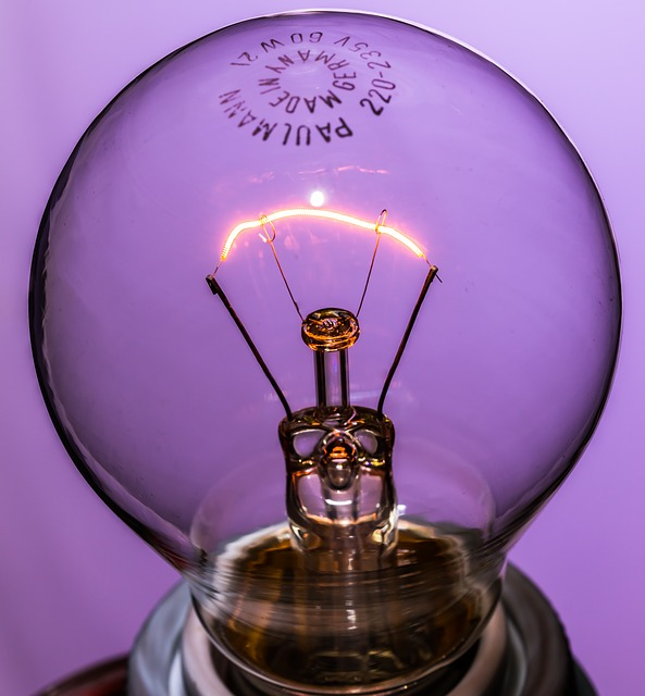 Free disappearing light bulb at burn light glow lamp