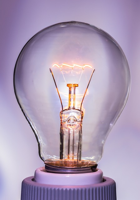 Free light bulb at burn light glow lamp immediately