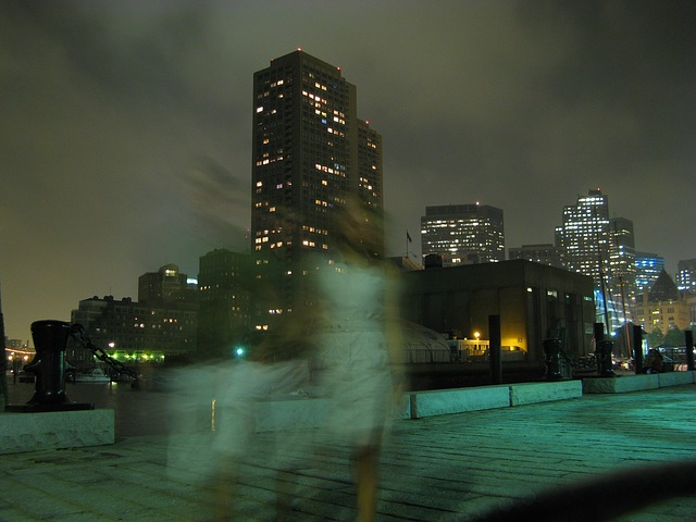 Free ghost weird mystery person walking city night