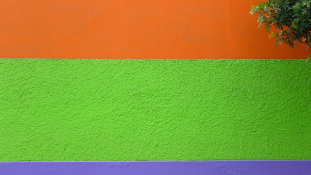 Free wall color green orange violett bright texture