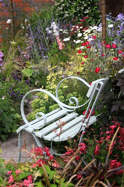 Free garden flora outdoor seat