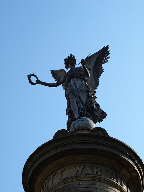 Free siegburg germany siegessäule angel sky pillar