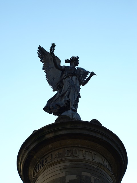 Free Photos: Siegburg germany siegessäule angel sky blue pillar | Helga Strazzanti