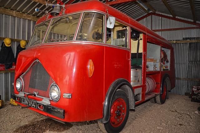 Free old fire engine emergency vehicle vintage truck