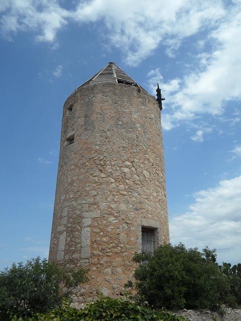 Free old old mill windmill landmark mallorca