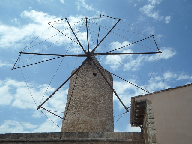 Free old old mill windmill landmark mallorca