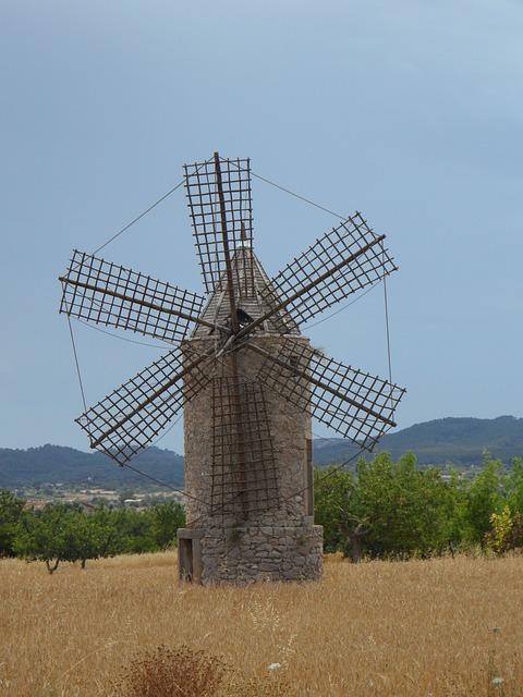 Free old mill windmill landmark mallorca historically