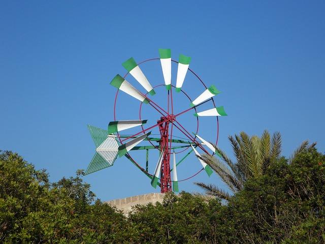 Free windmill mallorca wheel wind landmark wind power