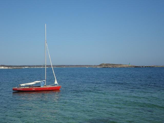 Free boot sailing boat anchor concerns water sea ship