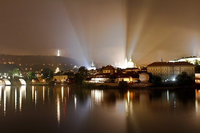 Free prague moldova city old town czech republic river